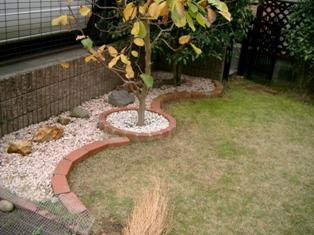 4 掃除を終えた庭