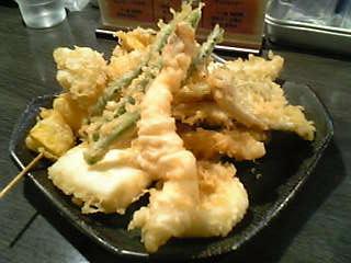 天ぷら大吉の天ぷら盛り合わせ
