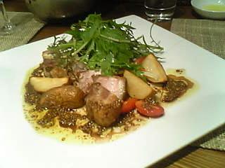 アービーのバームクーヘン豚のバラ肉のグリル