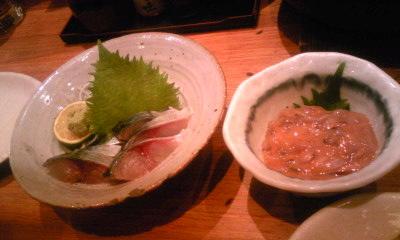 えびす丸 鯖の刺身 塩から