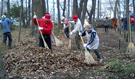 清瀬市内の雑木林維持管理20080212その1