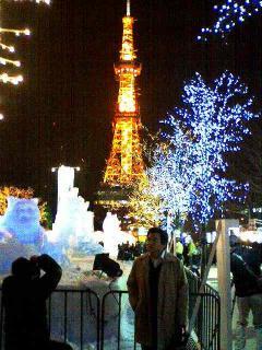 昨年の雪祭り、大通会場にて