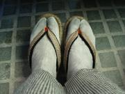 墨染めの麻足袋