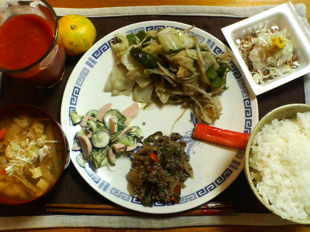 2006年10月16日の夕食