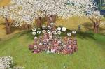 レヴィ㌧を桜の木の下に埋める直前の図