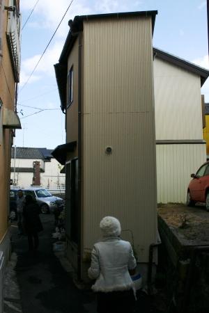 すごい幅の狭い家