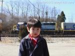 機関車と記念写真