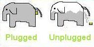 栓した象&栓外した象