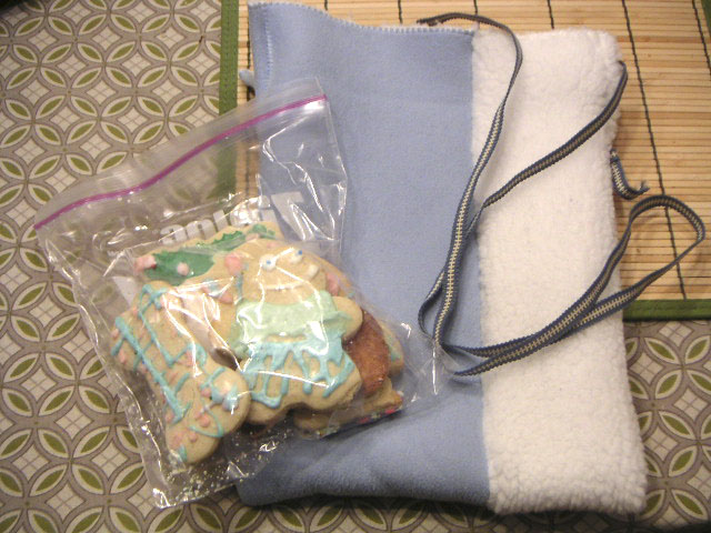 bag and cookies