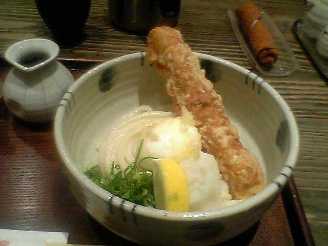 ちく玉天ぷらぶっかけうどん(冷)