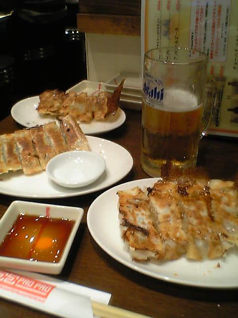 餃子とシュワシュワ