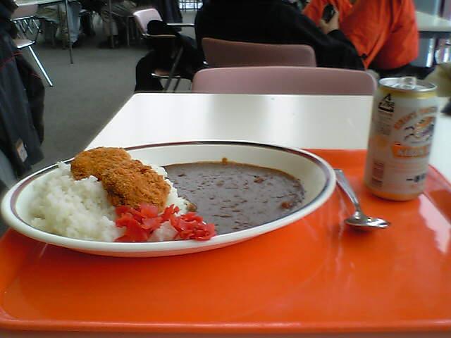 カレーライス with 缶ビール