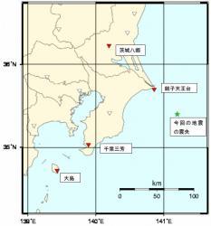 緊急地震速報発表に用いた気象庁の地震観測点