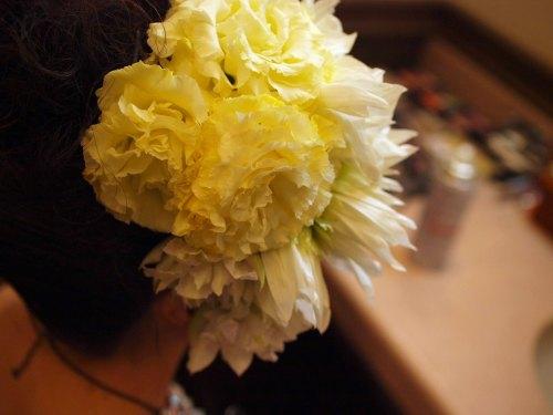 ヘッドドレス生花