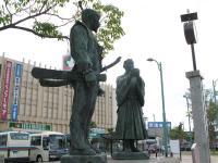 豊臣秀吉と石田三成像