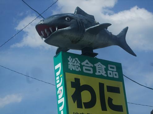 わに(サメ)の看板