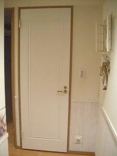トイレドアの塗装完成
