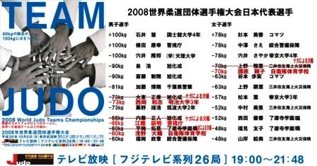 JAPAN団体メンバー表