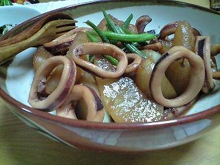 s-<br />イカと大根の煮物