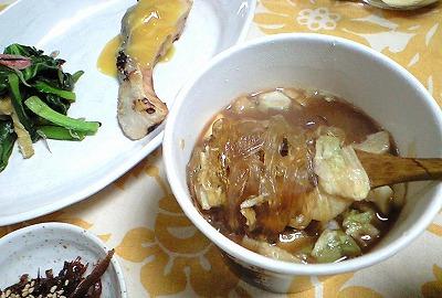 s-シシ肉はるさめスープ