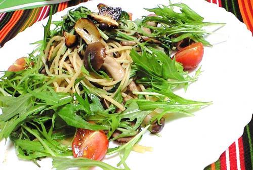 水菜のパスタ