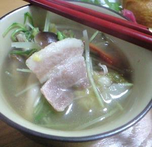 残り野菜スープ