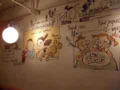 店内・壁画(?!)
