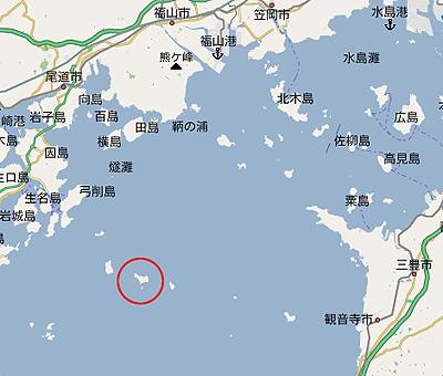 魚島の地図