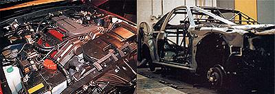 オーテック ザガート ステルビオのエンジンとフロアパン