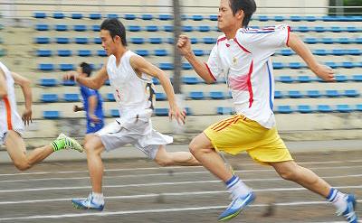 体力テスト(100m走)