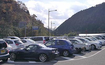 ふぉレスト君田の駐車場