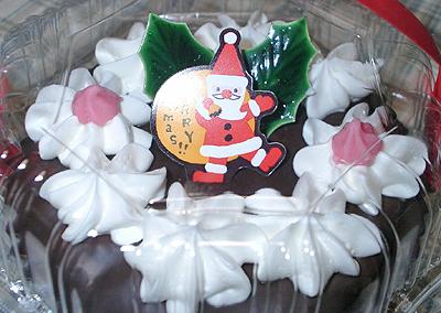 カップクリスマスケーキのドアップ