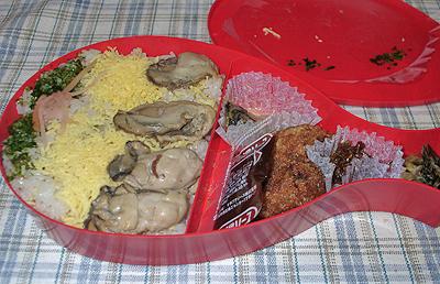 広島の味覚の牡蠣がふんだんに