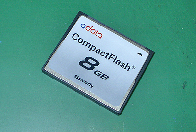 8GBのコンパクトフラッシュ