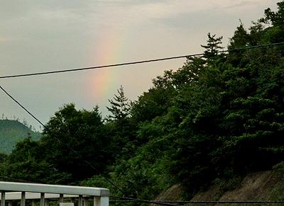 事務所から見た虹