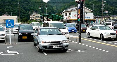下手っぴな駐車