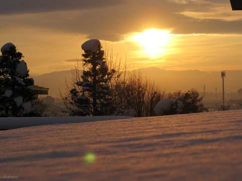 冬の朝焼け-1