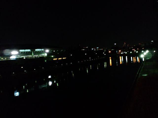 会場は大阪城のお堀沿い…大阪城ホールが目の前