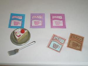 切手 カップ