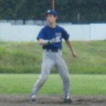 3回裏、適時二塁打を放った田中