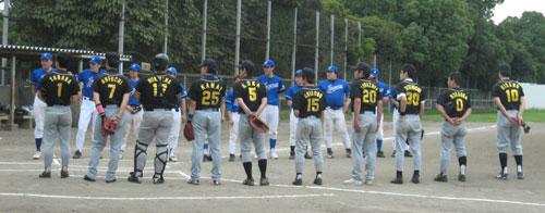 ジャパンシステム-野球部戦挨拶