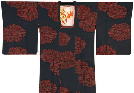 アンティーク素材・正絹長コート