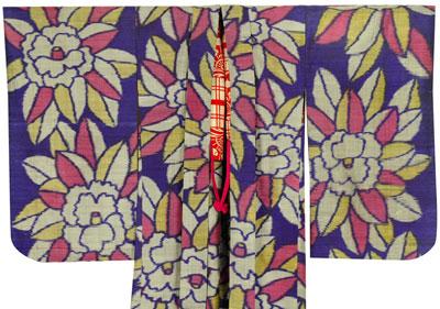 アンティーク羽織り紫1
