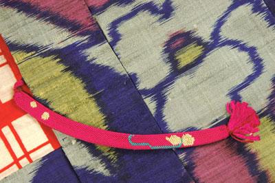 アンティーク羽織り紫2