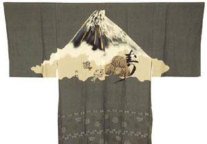男襦袢 富士山