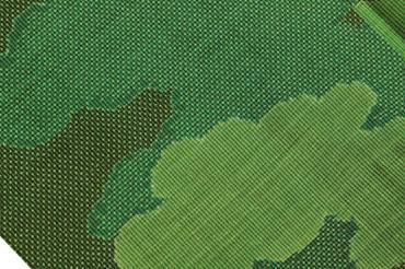 緑色大島紬UP
