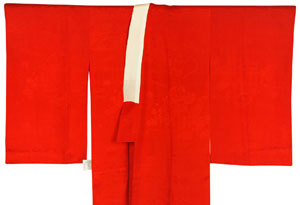 紅絹長襦袢