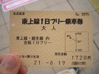 フリー切符