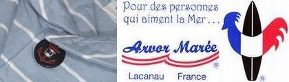 【Arvor Maree】アルボー セーラーカラー ボーダーポロ