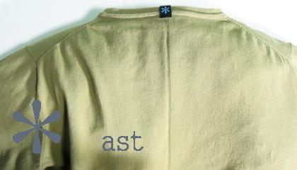 【ast(エイエスティー)】ハイツイストコットンストレッチTシャツ